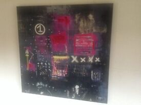 Large abstract canvas picture £30