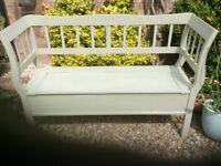Garden bench with storage under seat in good condition