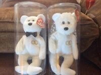 TY BEANIE BABY BRIDE and GROOM