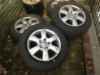 "VW VOLKSWAGON TRANSPORTER VAN T5 ALLOY 16"" WHEELS X 4"