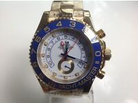 Rolex- yacht Master ll -All gold -White face