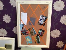 Shabby chic notice board