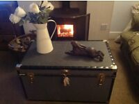 Gorgeous old steamer trunk