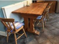 Large oak refectory table