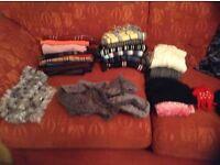 Bundle of assorted warm scarves