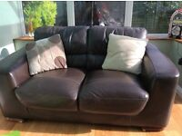 Free two seater leather sofa