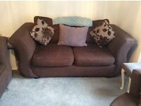 2 X 2 seater Sofas and large swivel chair
