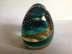 VERY RARE !!! LARGE ANTIQUE CAITHNESS GLASS PAPERWEIGHT - CIRCA LATE 80's