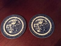 Willow Pattern Plates x 2