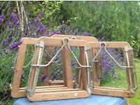 Vintage tennis/badminton racket press - upcycle