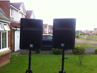 ELECTROVOICE SXA100+ ACTIVE SPEAKERS AND STANDS