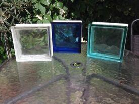 glass blocks three colours £2 each