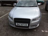 2006 AUDI A4 2LTR TDI CONVERTIBLE SILVER FULL BLACK LEATHER