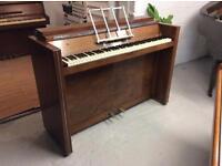Rare Art Deco walnut Amylette upright piano - DELIVERY AVAILABLE