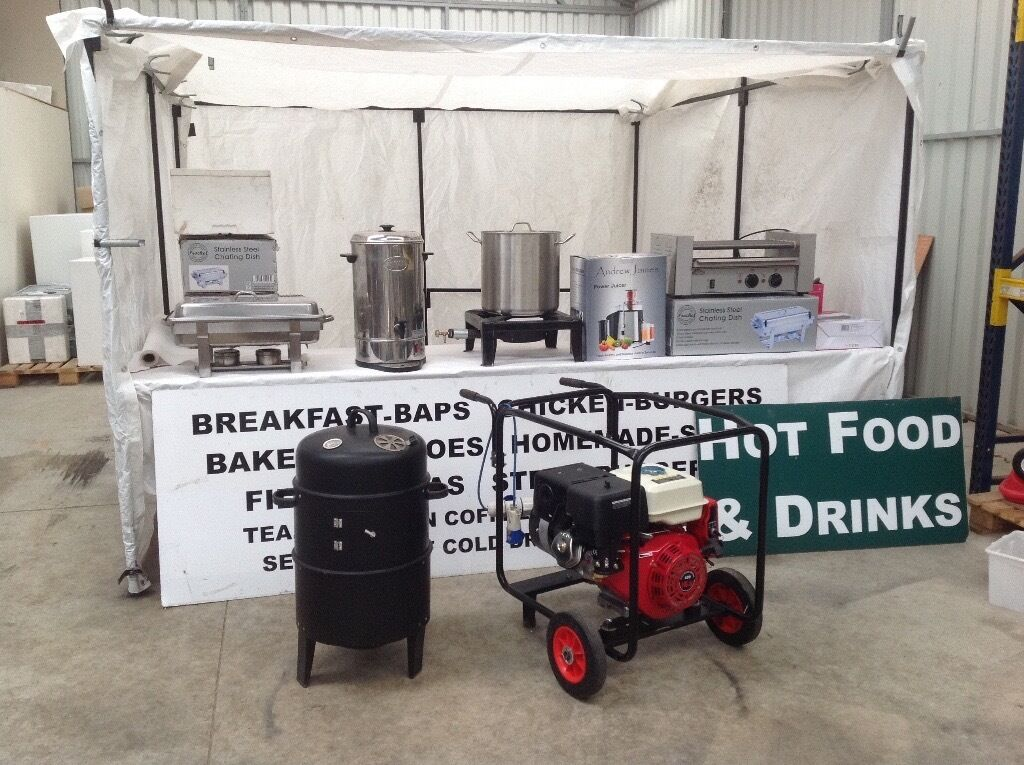 Street Food StallGeneratortwin axel box Trailerin Banbridge, County DownGumtree - Best Career Posibble highly satisfying and Great money Earner Giving up due to other Job commitments and small kids 3m X 3m Stall includes Trailer has New lights, Bradley hitch tyres and ramp door also brakes 8 X 5 Road legal trailer very easy towed...