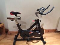 2018 Spin Bike. 15kg Chain Driven Flywheel. Unwanted Gift- like new! plus 2 spin DVDs. £120