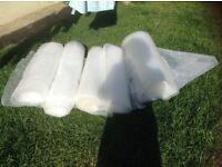 5 big rolls of bubble wrap
