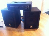 Kustom mixer amplifier kpm4060 and speakers