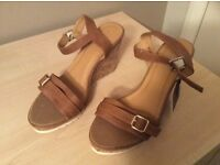 Tan Sandals Size 6 - Brand New (Never Worn)