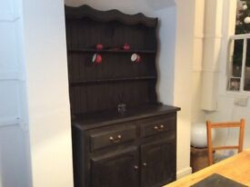 Painted Traditional Welsh dresser. Upcycled pine dresser in very good condition.