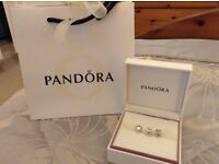 Genuine Set of three Pandora Charms - with box and bag