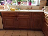 18 Base and wall kitchen Units, includes Franke sink & Hotpoint dishwasher