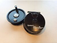 Fly reel. Line rated 8/9.large trout,sea trout or salmon