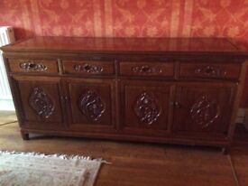 Authentic Chinese solid rosewood cabinet