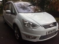 Ford galaxy 2.0tdci Titanium x leather revers camera pan roof buy for £58 per week