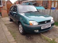 2002 Ford Fiesta 1.25 Zetec, 5 Door Hatchback, 96k miles, Great runner, £300.