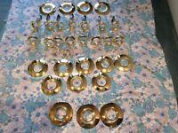 GU10 brass light fittings and matching reducer / converters