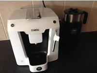 Lavazza coffee machine and milk warmer