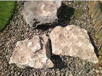 3 large rockery pieces
