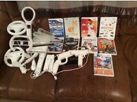 Nintendo Wii with games and controllers