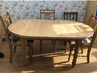 Pine Table Seats 6, extends to 8