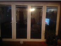 White pvc Bi fold doors