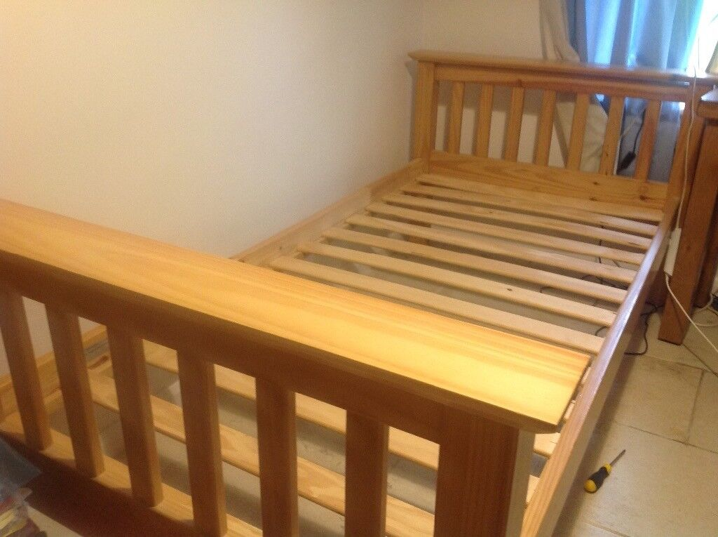 2 pine single beds for sale