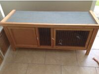 Guinea Pig / Small Rabbit Hutch. 6 months old used inside only 2 access doors