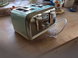 4 slice duck egg blue toaster.
