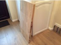 """Wood off cut. Oak. Unstained. Ideal for DIY project, small table etc. 39""""x 24"""" x 1.5 inch depth."""