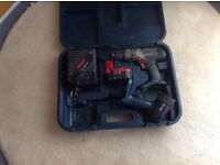 Bosch cordless drill and torch