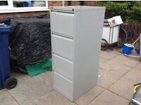 Bisley BS4E flush front x4 drawer flight grey filling cabinet