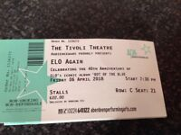 For sale Ticket for ELO tribute concert in Aberdeen