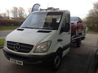 2008 Mercedes Sprinter Recovery Truck 6 Speed Manuel MOT 18ft Long Bed, Winch Ramp Solid Truck £5000