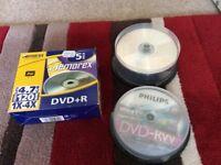 DVD+R, DVD-R and DVD-RW discs