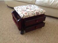 Small Padded Footstool