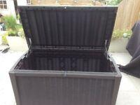 Keter brown garden storage box