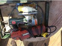 Angle grinder and jigsaw