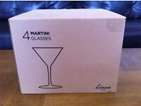 Four Quality Martini/Cocktail Glasses - £8