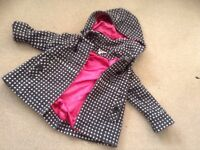 Girls Monsoon coat, age 4-6